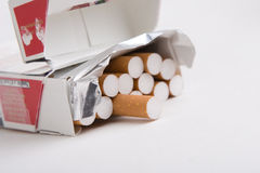 Packet of cigarettes Royalty Free Stock Images