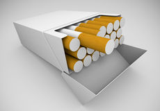 Packet of cigarettes Stock Photo