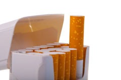 A packet of cigarettes in close-up Stock Photography