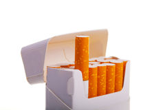 A packet of cigarettes in close-up Royalty Free Stock Images