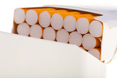 A packet of cigarettes in close-up Royalty Free Stock Photo