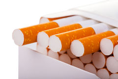 A packet of cigarettes in close-up Royalty Free Stock Photos