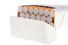 A packet of cigarettes in close-up Royalty Free Stock Photography