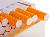 A packet of cigarettes in close-up Stock Images