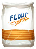 A packet of flour. Illustration of a packet of flour on a white background Stock Photos