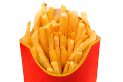 Packet of fries Stock Photo