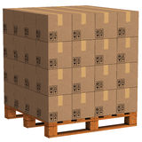 Packet pallet Stock Photography