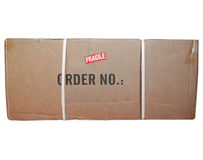 Packet parcel isolated. A small packet or parcel for mail shipping isolated over white Stock Photos