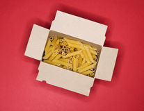 Packet of pasta Stock Photography
