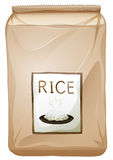A packet of rice. Illustration of a packet of rice on a white background Royalty Free Stock Image