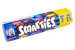 Packet of Smarties Stock Images