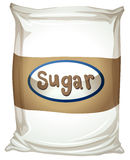 A packet of sugar. Illustration of a packet of sugar on a white background Royalty Free Stock Photos