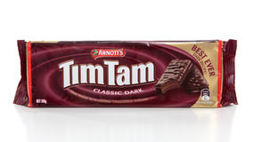 Packet of Tim Tam chocolate biscuits royalty free stock photography