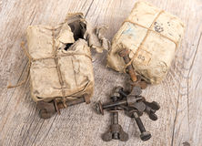 Packets old bolts Royalty Free Stock Image