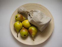 Packham pears with contrast lightning Royalty Free Stock Photography