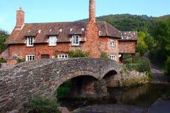 Packhorse Bridge. Ancient packhorse bridge in village of Allerford on Exmoor Royalty Free Stock Image