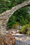 Packhorse Bridge, Carrbridge, Scotland. A close-up of the ancient Roman Packhorse Bridge in Carrbridge, Scotland Royalty Free Stock Photos