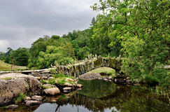 Packhorse bridge at Little Langdale Stock Photo