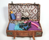 Packing for a beach vacation royalty free stock photo