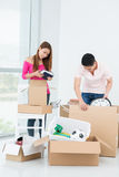Packing belongings Royalty Free Stock Photography