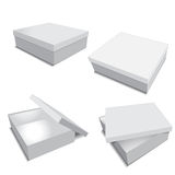 Packing box for business. Grey packing box for business vector illustration Stock Photography