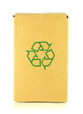 Packing box with recycle symbol Royalty Free Stock Photo