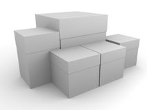 Packing boxes Royalty Free Stock Image