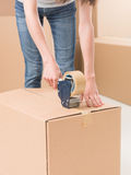 Packing boxes Stock Photography