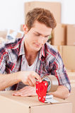 Packing boxes. Royalty Free Stock Photography