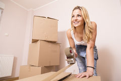 Packing boxes Royalty Free Stock Photography