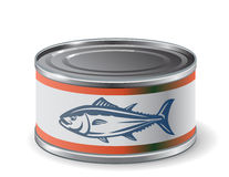 Packing can of salmon. Vector design template packing can of salmon Stock Images