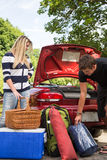 Packing the car Stock Photography