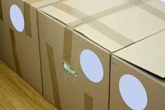 Packing cartons Stock Photo