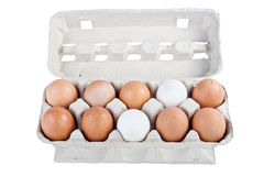 Packing of chicken eggs Royalty Free Stock Images