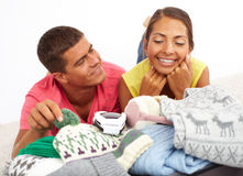 Packing clothes Royalty Free Stock Photography