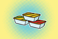 Packing Fast Food Sauce Stock Images