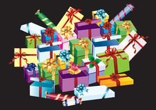 Packing with gifts. Stock Image