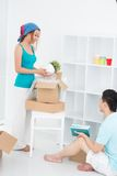 Packing home-plant Royalty Free Stock Image