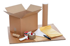 Packing items Royalty Free Stock Images