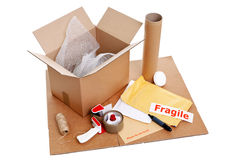 Packing items royalty free stock image