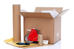 Packing items Royalty Free Stock Photography