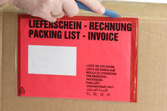Packing list Stock Photography