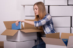 Packing lots of stuff Stock Image