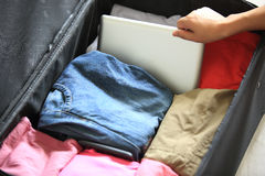 Packing for new journey Royalty Free Stock Photos