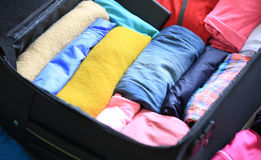Packing for new journey Royalty Free Stock Image