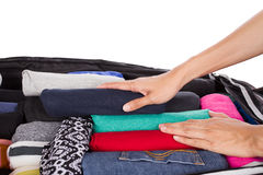 Packing for a new journey Stock Images