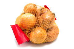 Packing onions Royalty Free Stock Images