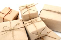 Packing parcels Royalty Free Stock Images