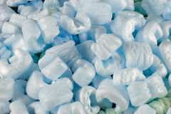 Packing peanuts alpha. A pile of packing peanuts royalty free stock photography