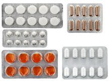 Packing pills Royalty Free Stock Images